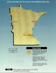 Nuclear Bomb Map Nuclear War Fallout Shelter Survival Info For Minnesota With Fema