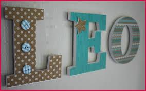 lettre porte chambre bébé lettre prenom chambre bebe 146380 prénom personnalisé lettre en
