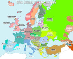 santa map this christmassy map shows all the different names for santa in europe