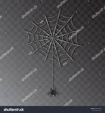 halloween transparent background vector realistic spider on web isolated stock vector 486074089