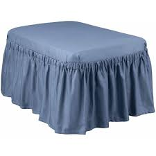 blue and white ottoman bedroom endearing blue ruffle duck oversized ottoman slipcover