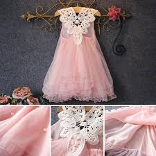 lovely flower princess dress kid baby party wedding lace