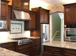 Mahogany Kitchen Cabinet Doors Endearing Dark Brown Color Mahogany Wood Kitchen Cabinets With