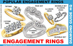 different types of wedding rings engagement ring styles jewelry secrets