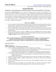 Product Manager Resume Samples by Senior Product Manager Financial Services In Phoenix Az Resume Corey U2026