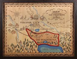 Map Of Nevada And Surrounding States Pinpointing The Ponderosa Ranch Big Think