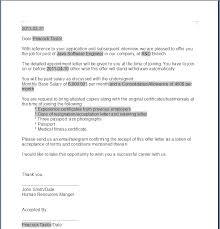 sample offer letter template offer letter template 50 free word