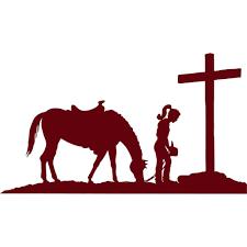 cross home decor christian cowgirl praying cross wall stickers wall art home decor