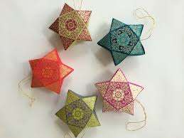 hanging star box handmade holiday ornaments by penandfavor on zibbet