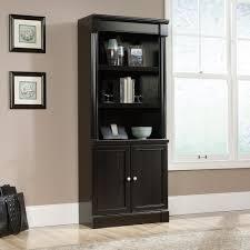 3 Shelf Bookcase With Doors Palladia Library With Doors 416515 Sauder