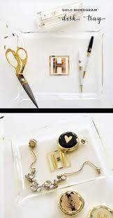 Acrylic Desk Accessories Desk Tray Gold Desk Organizer Gold Desk Accessories Gold