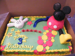 mickey mouse birthday sheet cakes sheet cake with buttercream