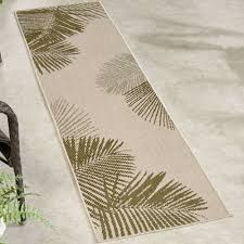 Indoor Outdoor Rug Runner by Terrace Palm Tropical Indoor Outdoor Rugs By Liora Manne