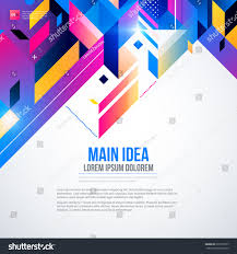 text background abstract geometric element glowing stock vector