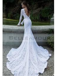 robe mari e sirene dentelle the makeup robe de mariée de luxe dentelle longue blanche manche