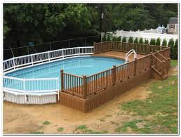 above ground oval swimming pool deck gallery with plans images