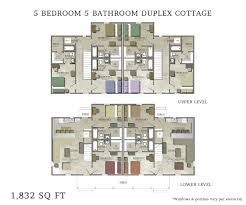 duplex floor plan 5 bedroom duplex cottage side by side capstone cottages of san