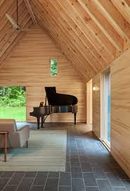 these pared down cabins were built to inspire classical musicians