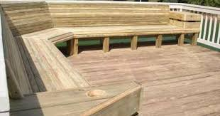 Free Outdoor Storage Bench Plans by Deck Plan With Built In Benches For Seating And Storage Free