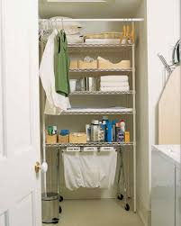 bathroom storage organization martha stewart laundry wall