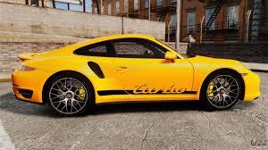 yellow porsche side view porsche 911 turbo 2014 epm turbo side stripes for gta 4
