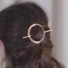 hair slide open circle hair slide copper hair clip bare copper hair clip