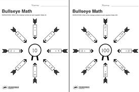 free printable bullseye math worksheet paging supermom