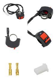 12v horn head light switch black on off button handlebar switch