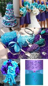 purple and blue wedding 5 different shades of purple wedding colors peacock themed