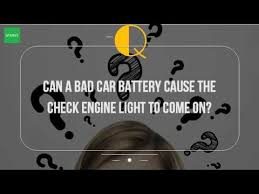 bad gas in car check engine light can a bad car battery cause the check engine light to come on youtube