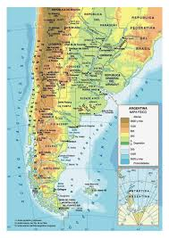 South America Physical Map by Physical Map Of Argentina With Cities Argentina South America