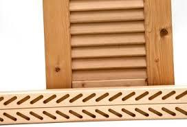 persiana in legno montanti persiana con cave per stecche