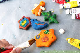 how to make ornaments with dough with pictures