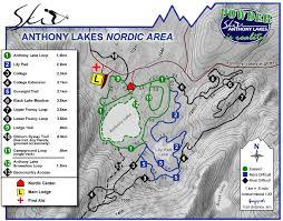 Oregon Lakes Map by Anthony Lakes Mountain Resort Skimap Org