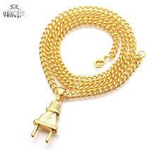 chain necklace hip hop images Hot sale hiphop jewelry silver gold plug pendant necklace hiphop jpg