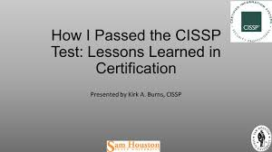 Cissp Resume Example For Endorsement by How I Passed The Cissp Test Lessons Learned In Certification