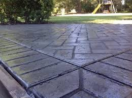 Brushed Concrete Patio Paragon Services Llc