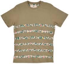 Bob Marley Home Decor Marley Tee Shirt Camo Stripe Olive Cotton Top Short Sleeves