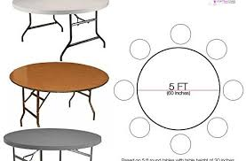 5ft round table in inches 5ft round table amazing tables rental in miami for 13