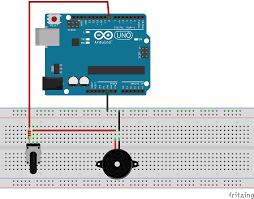 arduino buzzer player with adjustable volume playing a part of
