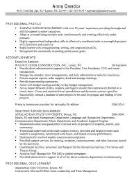 Resume Summary Of Qualifications Samples by Executive Assistant Resume Summary Template Billybullock Us