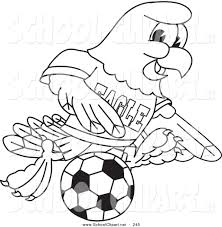 clip art of a coloring page of a bald eagle hawk or falcon playing