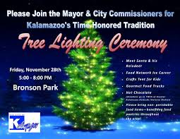 city of kalamazoo annual tree lighting ceremony kzookids
