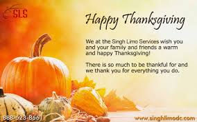i wish you a happy thanksgiving singh limo google