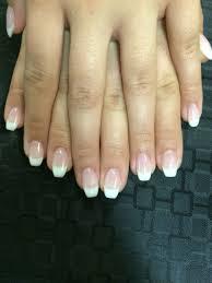 ballerina shaped french gel nails by crystaljeans esthetics
