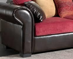 canap brun canapé d angle fixe contemporain en tissu pu brun sally