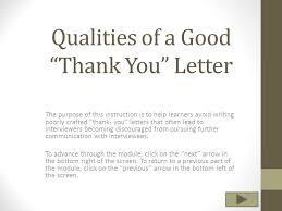 qualities of a good u201cthank you u201d letter ppt video online download