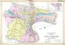 newark map newark ward map and plate 001 atlas essex county 1906 vol 3