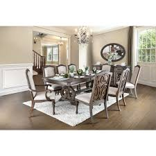 claudia transitional formal dining table furniture stores los