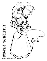 daisy coloring page coloring pages to print of rosalina from mario coloring home